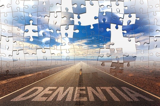 Dementia sign on the road