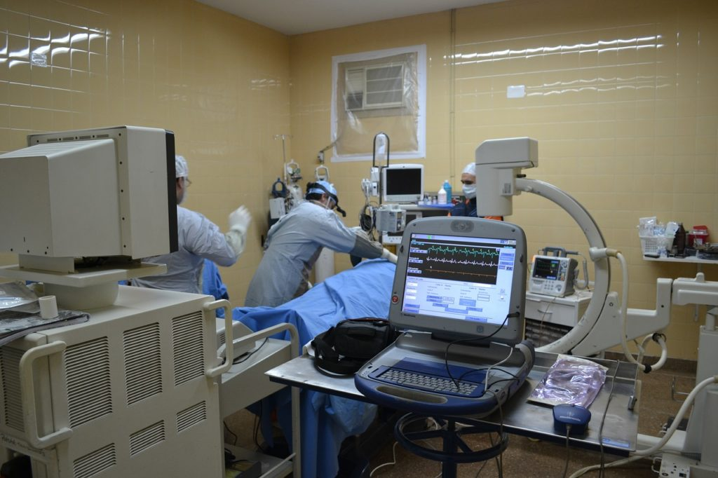intensive care treatment of patient in a hospital setting